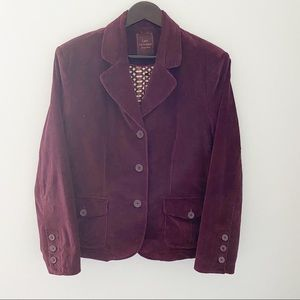 Lady Hathaway Red Wine Women Corduroy Blazer
